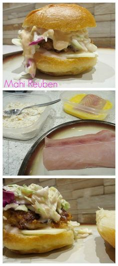Mahi Reuben Recipe from Having Fun Saving and Cooking.