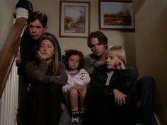 Grandpa Charles, Mary, Ruthie, Matt, and Simon spying on Lucy. - 7th Heaven (season 2 episode 13)