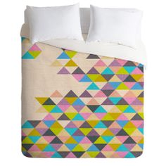 Bianca Green Completely Incomplete Duvet Cover #pink #blue #green #color #home #decor #unique