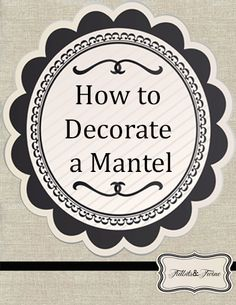 Trying to figure out how to style your fireplace mantel? Here's a visual guide plus lots of tips, tricks and examples to get you started! dekorieren How to Decorate a Mantel Plywood Furniture, Furniture Decor, Furniture Design, Decorating Tips, Mantle Decorating, Interior Decorating, Home Living Room, Vignettes, Diy Home Decor