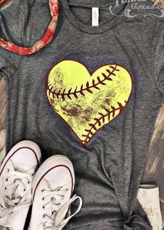 Most girls play softball with all their heart and get a little dirty too! That's what we love about this dirty heart softball tee! Softball Mom Shirts, Softball Gifts, Softball Quotes, Softball Pictures, Softball Players, Girls Softball, Fastpitch Softball, Baseball Shirts, Softball Stuff