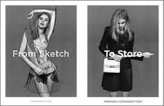 Milou Sluis for French Connection From Sketch to Store FW Campaign Georgia May Jagger, Fashion Tape, Fashion Models, French Connection Fashion, Star Wars, Fashion Advertising, Advertising Ideas, Advertising Photography, Print Magazine