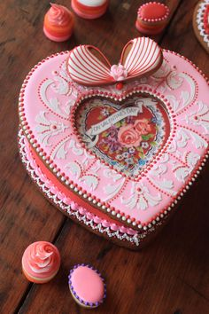 Valentine's Cookie Box and Cookie Petits Fours by Julia M. Usher, www.juliausher.com