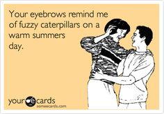 Your eyebrows remind me of fuzzy caterpillars on a warm summers day.