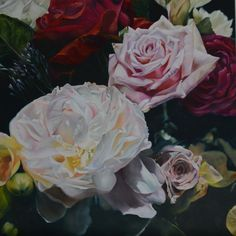 Spring Rhapsody - Oil on Linen 1 metre square SOLD Oil, Gallery, Spring, Floral, Artist, Flowers, Plants, Painting, Roof Rack