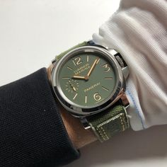 Check out this cool strap for this #pam911 😎 made by @combat_straps #panerai #paneristi #military #militarylife #green #watchporn #wristporn #womw #luxurylifestyle #officine #luxury #watches #swiss #italy
