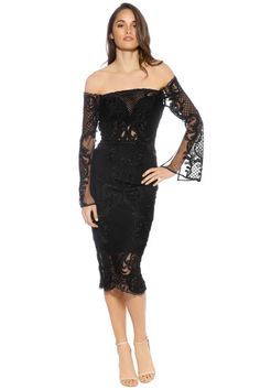 Rent Thurley - Scarborough Fair Dress - Black for a fraction of the retail price for an upcoming cocktail party. Mauve Lips, Black Lace Up Heels, Scarborough Fair, Dress Hire, Classic Chic, Lace Overlay, Latest Trends, Formal Dresses, How To Wear