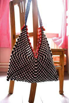 Hooks at Saar and Mien: crochet shopper Free pattern Dutch