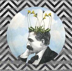 Dandelion I pothead sky melamine plate