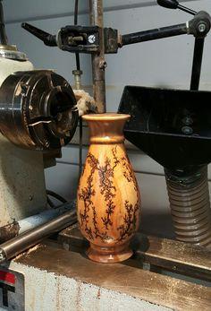 Maple bud vase with fractal burning.