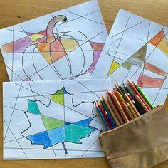 """Froilein Kunterbunt 👩🏻🏫 auf Instagram: """"ABSTRAKTE HERBSTBILDER 🍂▪️ Es ist wieder an der Zeit... die abstrakten HERBSTBILDER können wieder zum Einsatz kommen🥰. Ich habe sogar ein…"""" Coasters, Halloween, Instagram, Stocking Stuffers, Madness, Kunst, School, Coaster, Spooky Halloween"""