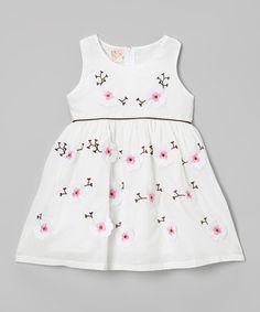 White Cherry Blossom Dress - Toddler & Girls