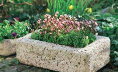 fertiges Pflanzgefäß aus Beton