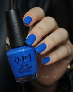 Blue nail polish, opi nail colors, opi nails, blue nails, no chip man Opi Blue Nail Polish, Opi Nail Colors, Opi Nails, Nail Polishes, Nail Nail, Stiletto Nails, Green Nails, Blue Nails, Bright Summer Acrylic Nails