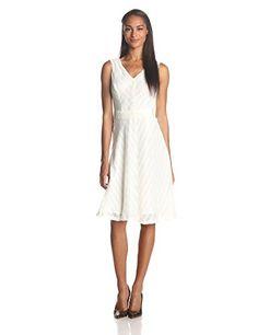 Anne Klein Women's Sleeveless V Neck Belted Fit and Flare Dress, Camellia, 14 Anne Klein http://www.amazon.com/dp/B00KCQWX8O/ref=cm_sw_r_pi_dp_rOBVub1EZ1A6A