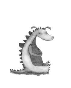 HITRECORD - Russell Magazine Illustration, Little Dragon, Symbols, Celestial, Illustrations, Dragons, Magazines, Art, Nice