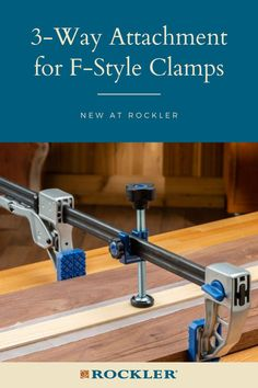 Find this and other new products on our website here! This product attaches to most F-style clamps to convert it to a 3-way clamp and is great for applying edging and flushing up joints. #CreateWithConfidence #NewAtRockler #NewProduct #3WayClamp #FStyleClamp Rockler Woodworking, Woodworking Hand Tools, Box Joints, Steel Bar, Finger Joint, Joinery, Workshop, How To Apply, Website