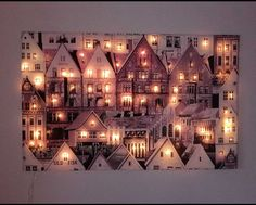 kuva Christmas Time, Christmas Crafts, Christmas Ideas, Light Up Canvas, Diy And Crafts, Arts And Crafts, Candy Art, Light Art, Holidays And Events