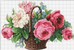 Cross Stitch Tree, Cute Cross Stitch, Cross Stitch Heart, Cross Stitch Flowers, Cross Stitch Designs, Cross Stitching, Cross Stitch Embroidery, Cross Stitch Landscape, Magnolia Flower