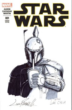 Star Wars sketch cover with BOBA FETT by Livio Ramondelli Star Wars Boba Fett, Star Wars Collection, Comic Art, Marvel Comics, Art Gallery, Stars, Sketch, Cover, Artwork