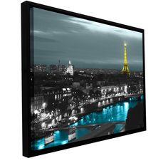 'Paris' by Revolver Ocelot Framed Graphic Art on Wrapped Canvas