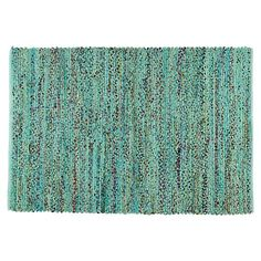 I love this rug for an art room because it has so many colors hidden in there. It could get drips of paint or some glitter on it here and there, and it would just add to its beauty. Color Fusion Recycled Kids Area Rug (Blue) | The Land of Nod