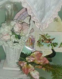 Vintage Roses*Birds*Pink Christmas      Photo by Julie Cruzan