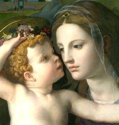 Agnolo di Cosimo (Il Bronzino): Madonna and Child with Saints (ca. 1540, detail)