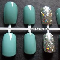 Color Idea...Tiffany Blue with Silver Ring Finger