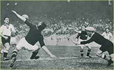 Switzerland 4 W. Germany 2 in 1938 in Paris. Eugen Walaschek scored to make it 2-1 on 44 minutes in the World Cup 1st Round Replay.