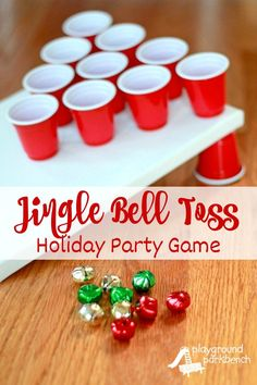 Jingle Bell Toss - A Holiday Party Game for Kids Pin