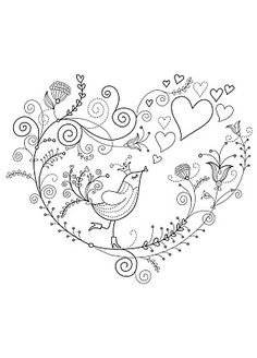 Doodle Bird ~ Cute design for a moderate twist on a vintage classic of birds and…