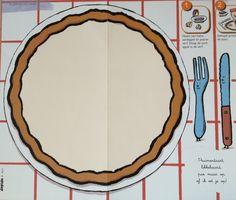 Pruimentaart, stempelen met een halve aardappel en paarse verf