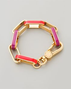 Shop here: Enamel Turnlock Link Bracelet // Marc by Marc Jacobs