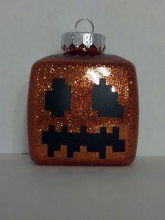 Minecraft Jack O Latern Snow Golem Christmas by ZakksGreatFinds, $7.00