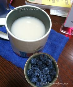 Korean Job's Tear's Tea and Michigan blueberries