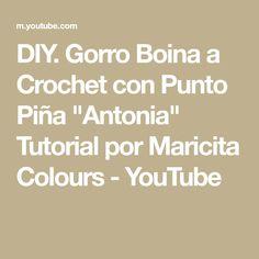 Gorro Boina a Crochet con Punto Piña