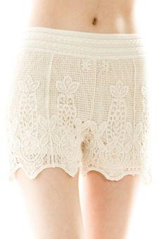 LACE CROCHET SHORTS  SHOP DIVERGENCE CLOTHING http://divergenceclothing.com/summer-days-lace-crochet-shorts.html  #LACE #LACESHORTS