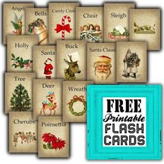 Free Printable Christmas Themed Flash Cards by Sweetly Scrapped