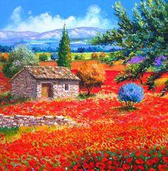 Pinturas Cuadros al Óleo: Flores y Paisajes con Espátula Óleo