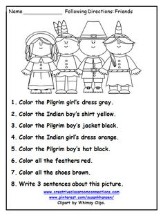 thanksgiving worksheets first grade free - Google Search | Angie ...