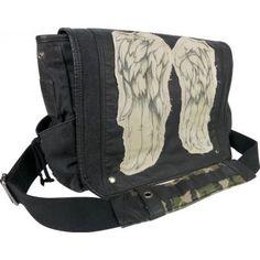 Mochila The Walking Dead Daryl Wings Messenger Bag The Walking Dead-Negro