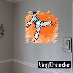 Karate Wall Decal - Vinyl Sticker - Car Sticker - Die Cut Sticker - SMcolor005
