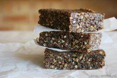 Sprouted buckwheat walnut bars