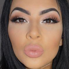 Neutral eyes w pinky nude lips