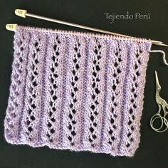Cómo yün işleri yün işleri el punto elástico escalera de fantasía en dos agujas o palitos (knitting stitch). Video tutorial del paso a paso! Knitting Stiches, Easy Knitting Patterns, Knitting Videos, Lace Patterns, Lace Knitting, Crochet Stitches, Stitch Patterns, Crochet Patterns, Crochet Hook Case