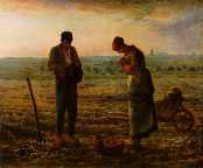 晩鐘  1857-59 Oil on canvas、55.5 x 66 cm パリ、オルセー美術館