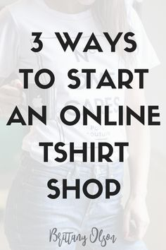 How to start your own online t-shirt shop. How to put custom designs on shirts and have them dropshipped. Dropshipping business ideas.