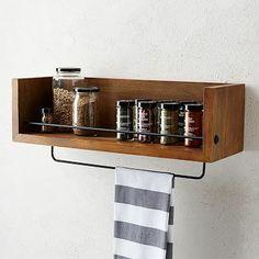 Kitchen spice & small items wall storage.