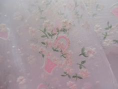 Sheer flocked fabric for little girl party dresses!